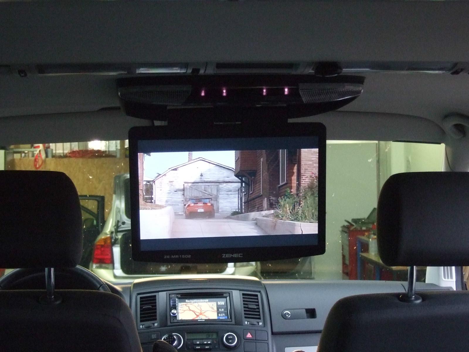 vw t5 multivan mit deckenmonitor und kenwood navigation. Black Bedroom Furniture Sets. Home Design Ideas