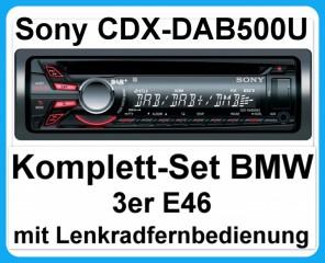 komplett set bmw 3er e46 mit sony cdx dab500u autoradio cd. Black Bedroom Furniture Sets. Home Design Ideas