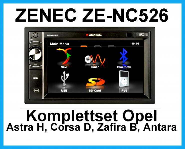 komplett set opel astra h corsa d zafira b antara zenec ze. Black Bedroom Furniture Sets. Home Design Ideas