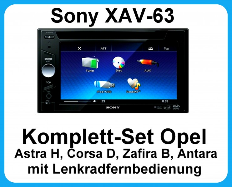 komplett set opel astra h corsa d zafira b antara sony xav. Black Bedroom Furniture Sets. Home Design Ideas
