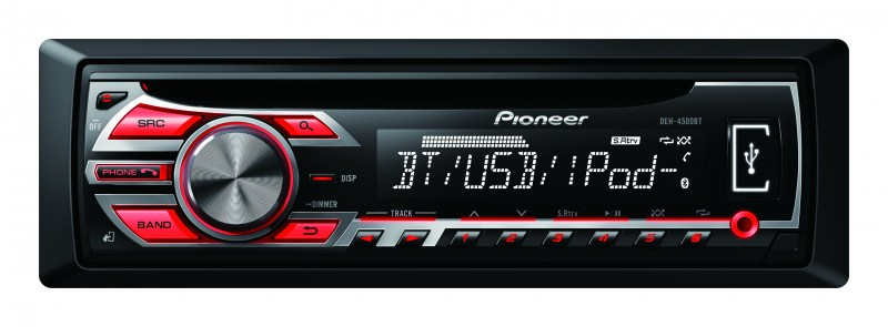 pioneer deh 4500bt cd mp3 usb autoradio mit bluetooth. Black Bedroom Furniture Sets. Home Design Ideas