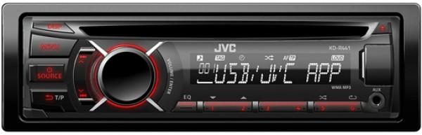jvc kd r441 cd mp3 autoradio mit usb und aux in rote beleuchtung ebay. Black Bedroom Furniture Sets. Home Design Ideas
