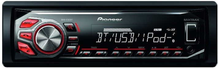 pioneer mvh x360bt usb mp3 autoradio mit bluetooth. Black Bedroom Furniture Sets. Home Design Ideas