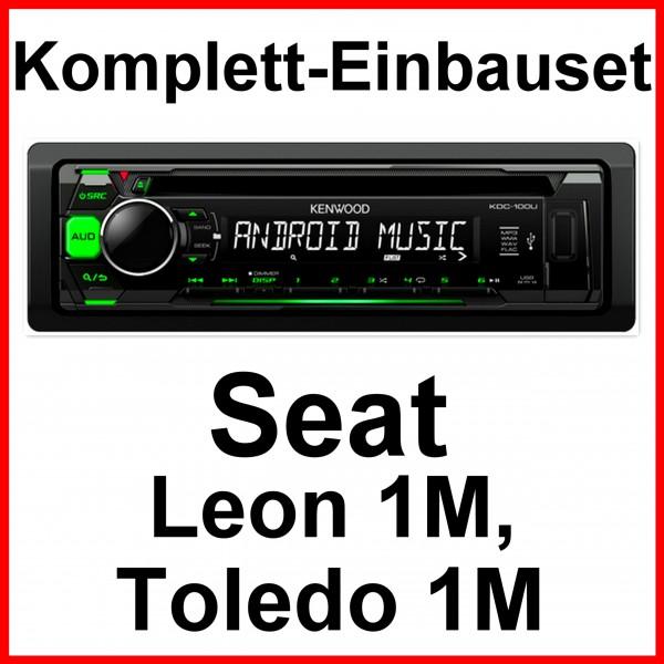 Komplett set seat leon 1m toledo 1m kenwood kdc 100ug for Mueble 2 din seat leon 1m